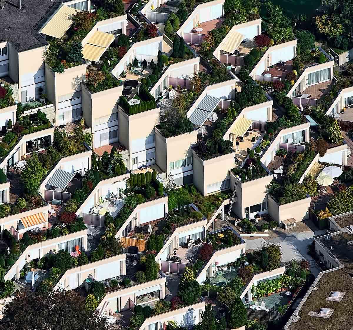 maisons avec jardins design moderne la tête dans les arbres